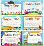 Diploma templates for primary school Royalty Free Stock Images