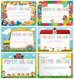 Diploma templates for primary school. Illustration Royalty Free Stock Photography