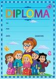Diploma thematics image 3 Stock Image