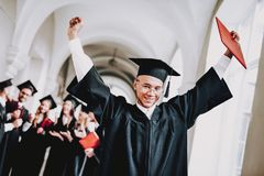 Diploma. University. Guy. Mantle. University royalty free stock photography