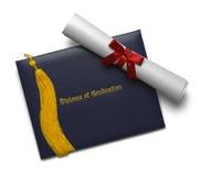 Diploma van Graduatie en Leeswijzer stock foto's
