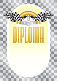 Diploma for the winner of championship Stock Photos