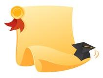 Diploma y sombrero Fotos de archivo libres de regalías