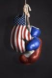 Diplomacia do símbolo entre Rússia e os EUA foto de stock