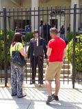 Diplomacy at the Cuban Embassy Stock Photo
