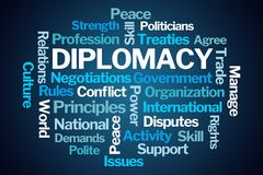 Diplomacy Word Cloud royalty free stock images