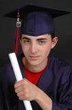 Diplomado de High School secundaria Imágenes de archivo libres de regalías