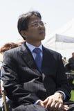 Diplomate assistant à l'événement commémoratif annuel de cimetière national de Los Angeles, le 26 mai 2014, la Californie, Etats- Photo stock