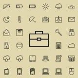 Diplomatenpictogram Gedetailleerde reeks minimalistic pictogrammen Premie grafisch ontwerp Één van de inzamelingspictogrammen voo royalty-vrije illustratie
