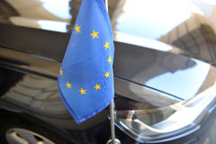 Diplomatic Car of European union Stock Photo
