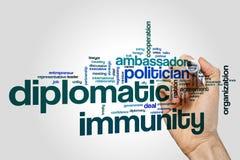 Diplomatic immunity word cloud stock photo