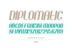 Diplomatic. Set of inclined alphabet letters and numbers. , contemporary, slanted font type. modern italics typeface design. monospaced, sans serif typesetting Stock Photo