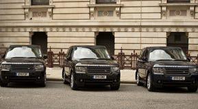 Diplomatic vehicles Stock Photo