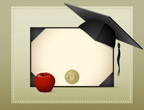 diplomavläggande av examen royaltyfri illustrationer