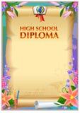 Diplomdesignmall Royaltyfri Bild