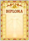 Diplomdesignmall Arkivfoton