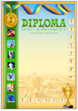 Diplomdesignmall Arkivbilder