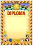 Diplomdesignmall Arkivbild