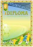Diplomdesignmall Arkivfoto