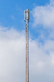Dipole antenna for telecommunications with blue sky background. Stock Photos