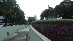 Diponogoro-Statue nahe Suropati-Park, Jakarta stock footage