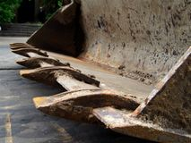 Dipper 1. An industrial excavator dipper closeup Stock Images