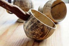 Dipper die van kokosnotenshell wordt gemaakt, Royalty-vrije Stock Afbeeldingen
