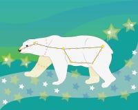 Dipper grande da constelação. ilustração stock