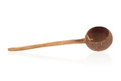 Dipper van kokosnoten dieshell wordt gemaakt Stock Afbeelding