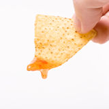 Dipping Chips Royalty Free Stock Image