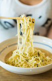 Dipping cold noodle Zaru soba sauce japan food style Stock Photography