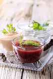 Dipping sauces Stock Photo