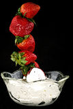 Dipping Strawberries Stock Photos