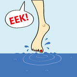 Dipping Your Toe in the Water Stock Photos