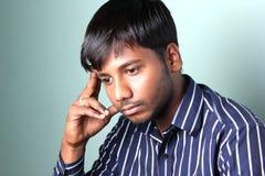 Dipressed Indische Mensen Stock Afbeeldingen