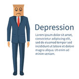 Dipression pojęcia wektor ilustracji