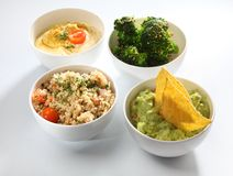 Dips bowls Stock Images
