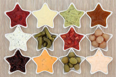 Dips and Pickles Stock Images