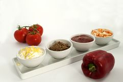 Dips and vegatables Stock Image