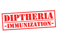 DIPTHERIA IMMUNIZATION. Red Rubber Stamp over a white background royalty free illustration