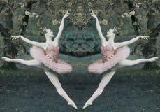 Diptych della ballerina Fotografie Stock Libere da Diritti