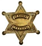 Diputado auténtico Marshall Badge Fotos de archivo libres de regalías