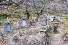 DIQING, КИТАЙ - 17-ОЕ МАРТА 2015: Католическое кладбище на Cizhong A Стоковая Фотография