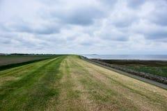 Dique de la isla de Schiermonnikoog Imagenes de archivo