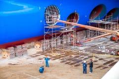 Dique seco del barco de cruceros Fotografía de archivo libre de regalías