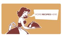 Diríjase la comida hecha, icono del vector, símbolo, logotipo para su web de los recipies Imagenes de archivo