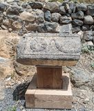 Dir阿齐兹犹太教堂的废墟,修造在拜占庭式的期间,在6世纪广告初 它位于Gol 免版税库存照片