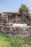 Dir阿齐兹犹太教堂的废墟,修造在拜占庭式的期间,在6世纪广告初 它位于Gol 免版税图库摄影