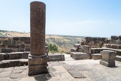 Dir阿齐兹犹太教堂的废墟,修造在拜占庭式的期间,在6世纪广告初 它位于Gol 免版税库存图片