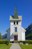 Dirdal Kirke 006. Beautiful wooden Dirdal church in the Gjesdal area, Norway Stock Photos